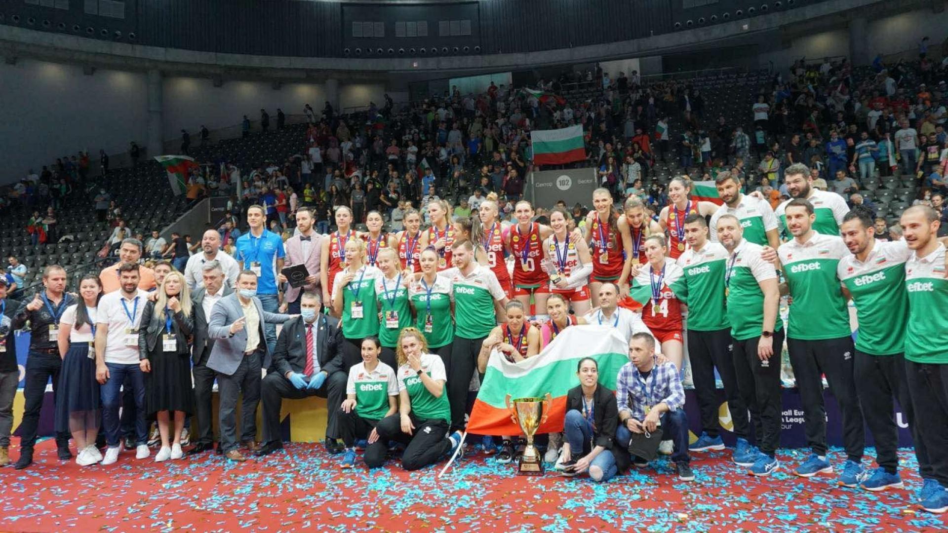 България спечели Златната европейска лига по волейбол в Русе