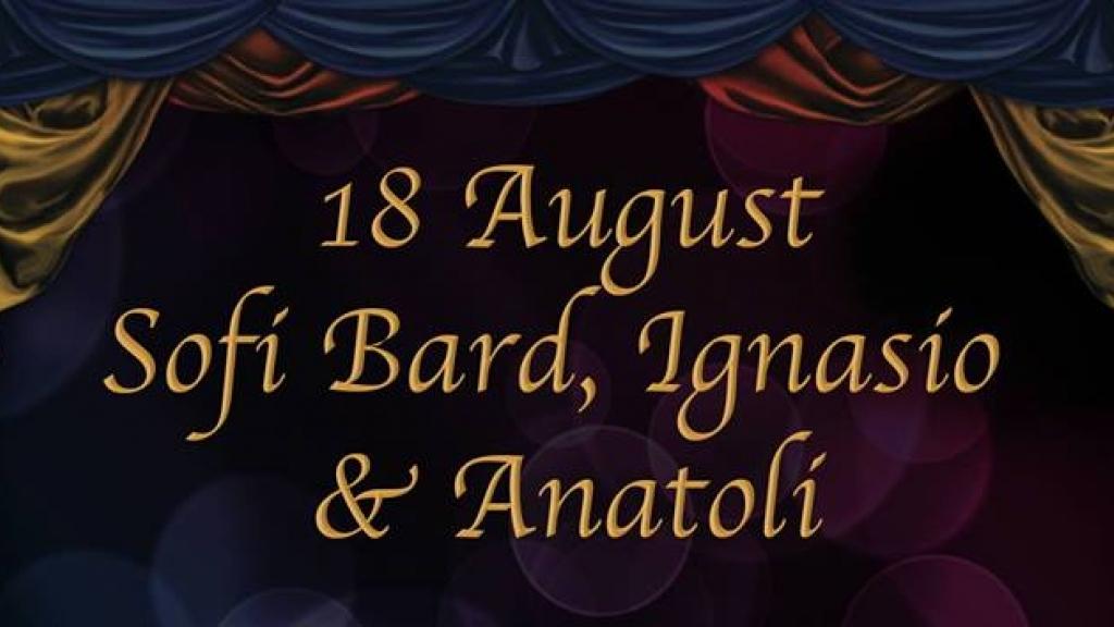 18 август - Софи Бард, Игнасио и Анатоли в Live Club Canto