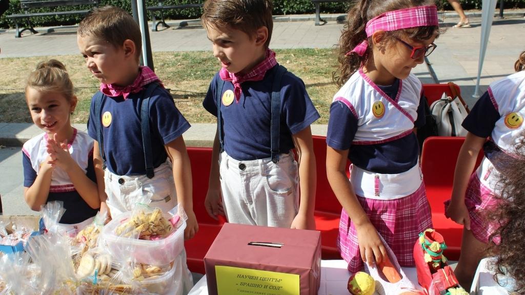 Деца създадоха градче на знанието в центъра на Русе