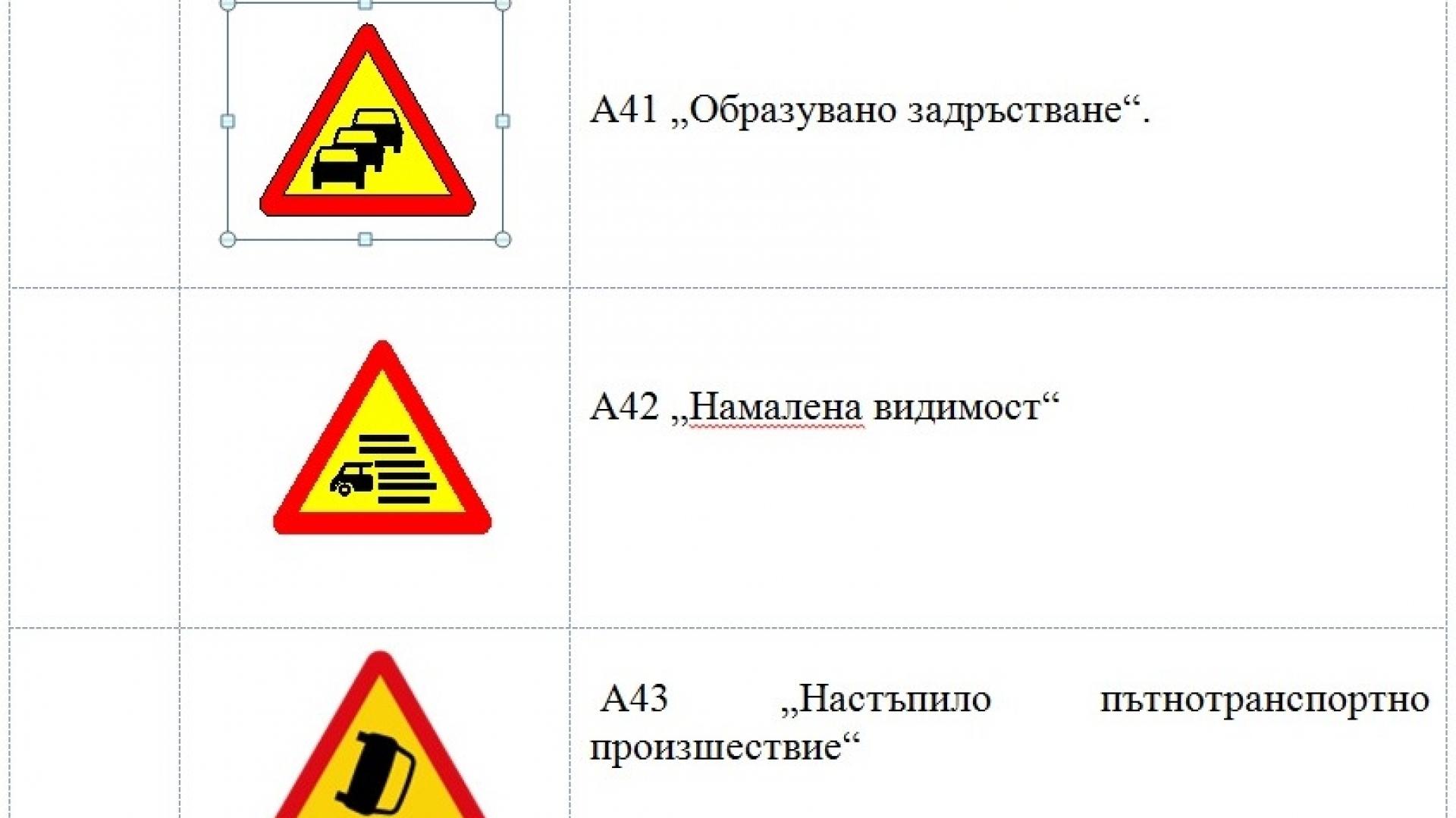 МРРБ въвежда 8 нови знака по пътищата