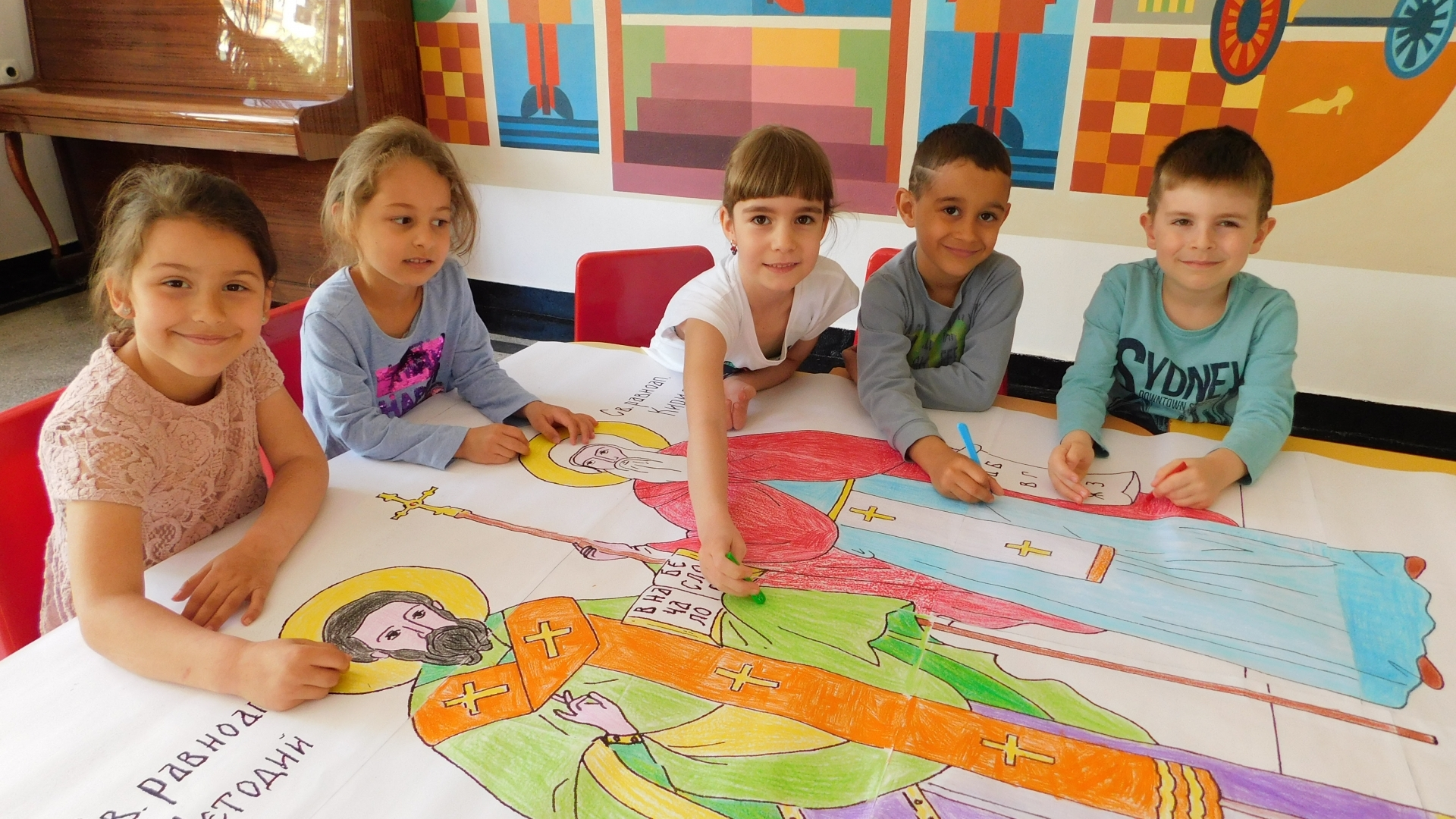 Деца от Русе сътвориха една от най-големите икони на Св. Св. Кирил и Методий