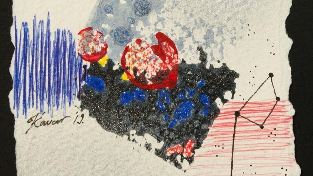 Смесена техника и колажи представи в изложба Кристина Чавар