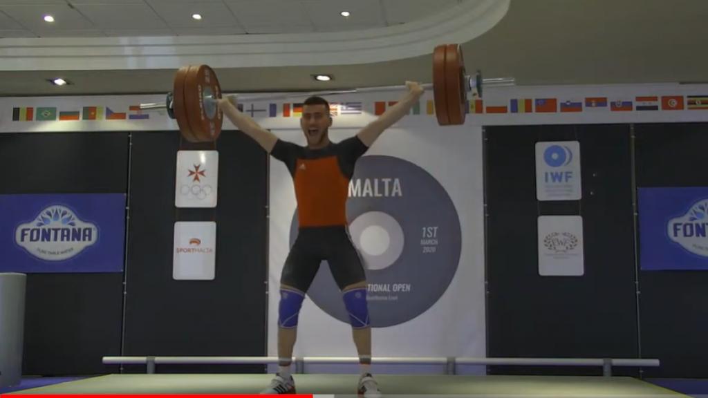 Стилян Гроздев със злато от Международен турнир в Малта по вдигане на тежести