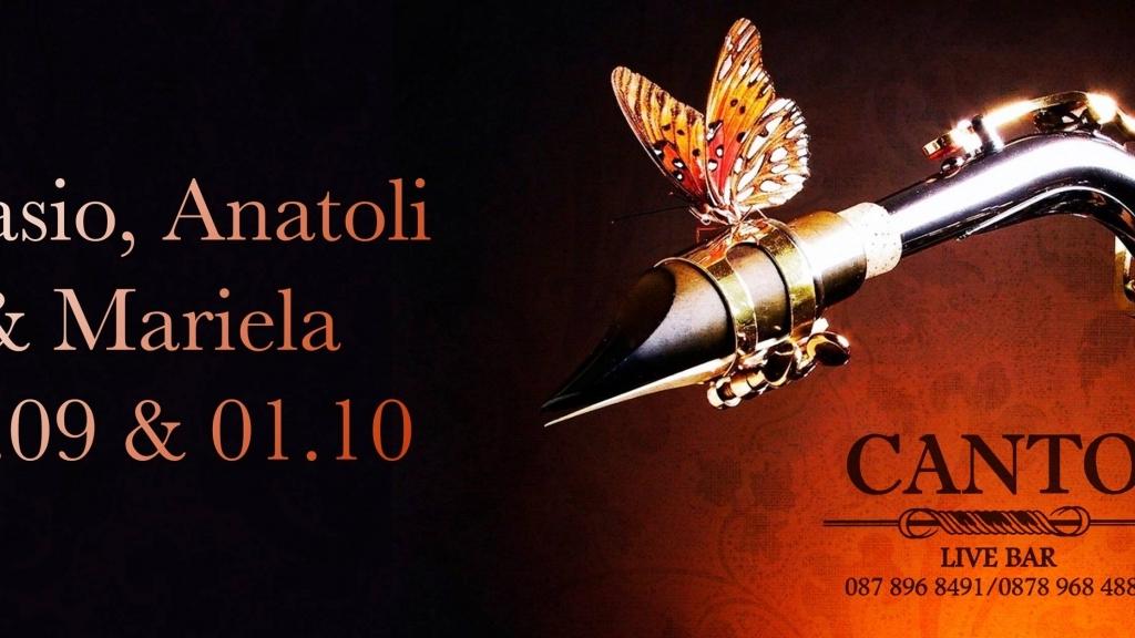 30 септември - 1 октомври 2016 - Ignasio, Anatoli и Mariela в Live Club Canto
