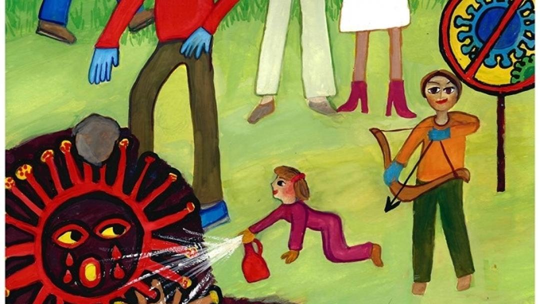 Успех на талантливата Петя Димитрова за детска рисунка, посветена на COVID-19
