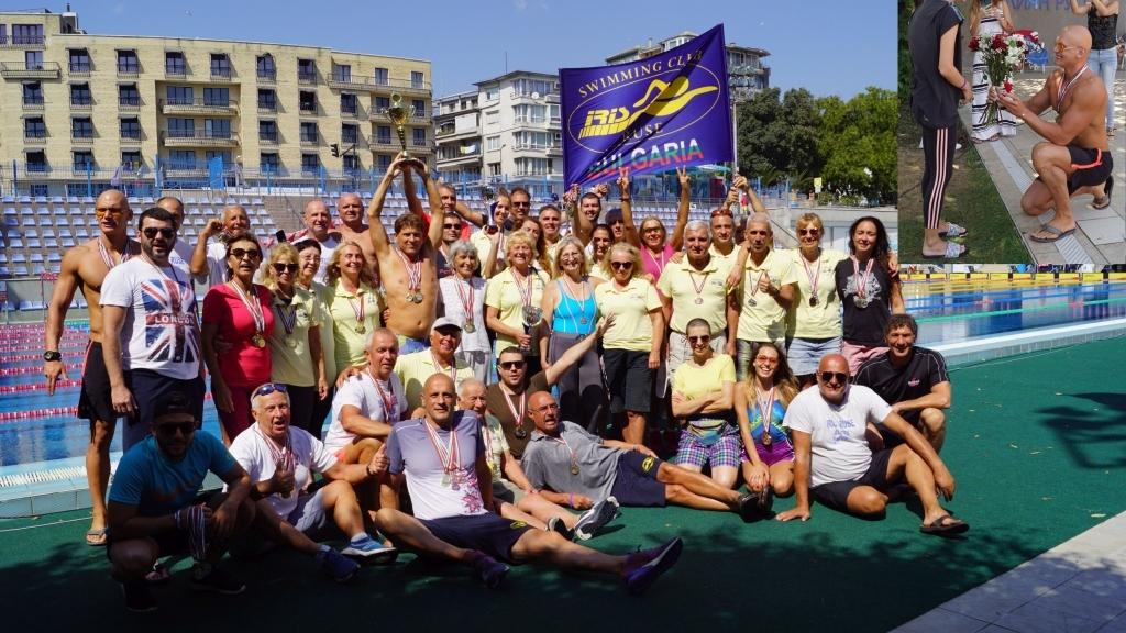 """За шеста поредна година плувците на """"Ирис Русе Ветерани"""" са комплексен  шампион на България"""