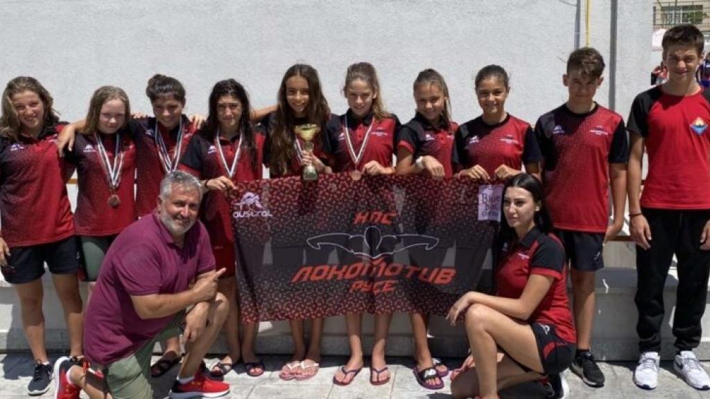 Отлично представяне на плувците от Локомотив Русе на Държавното първенство в Благоевград