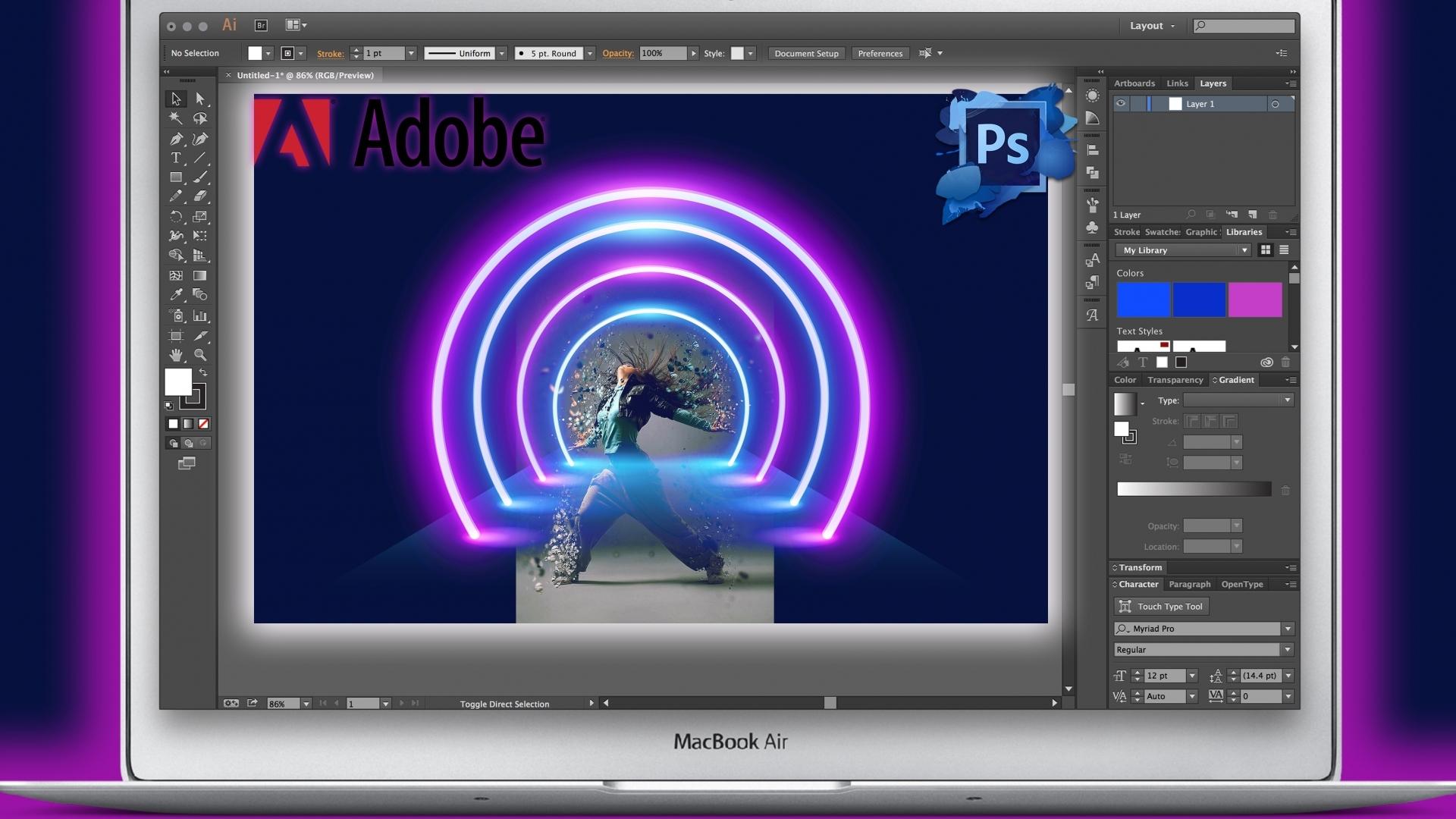 Стартира първата група от курса за ученици по Adobe Photoshop за начинаещи от вкъщи