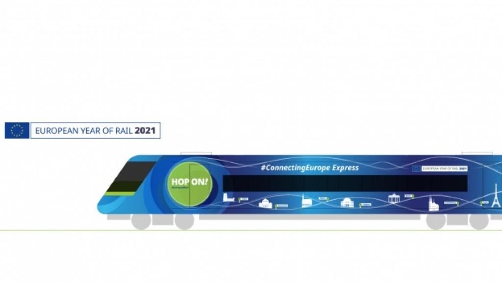 """Русе посреща експреса """"Връзка с Европа"""" по повод Европейската година на железопътния транспорт"""
