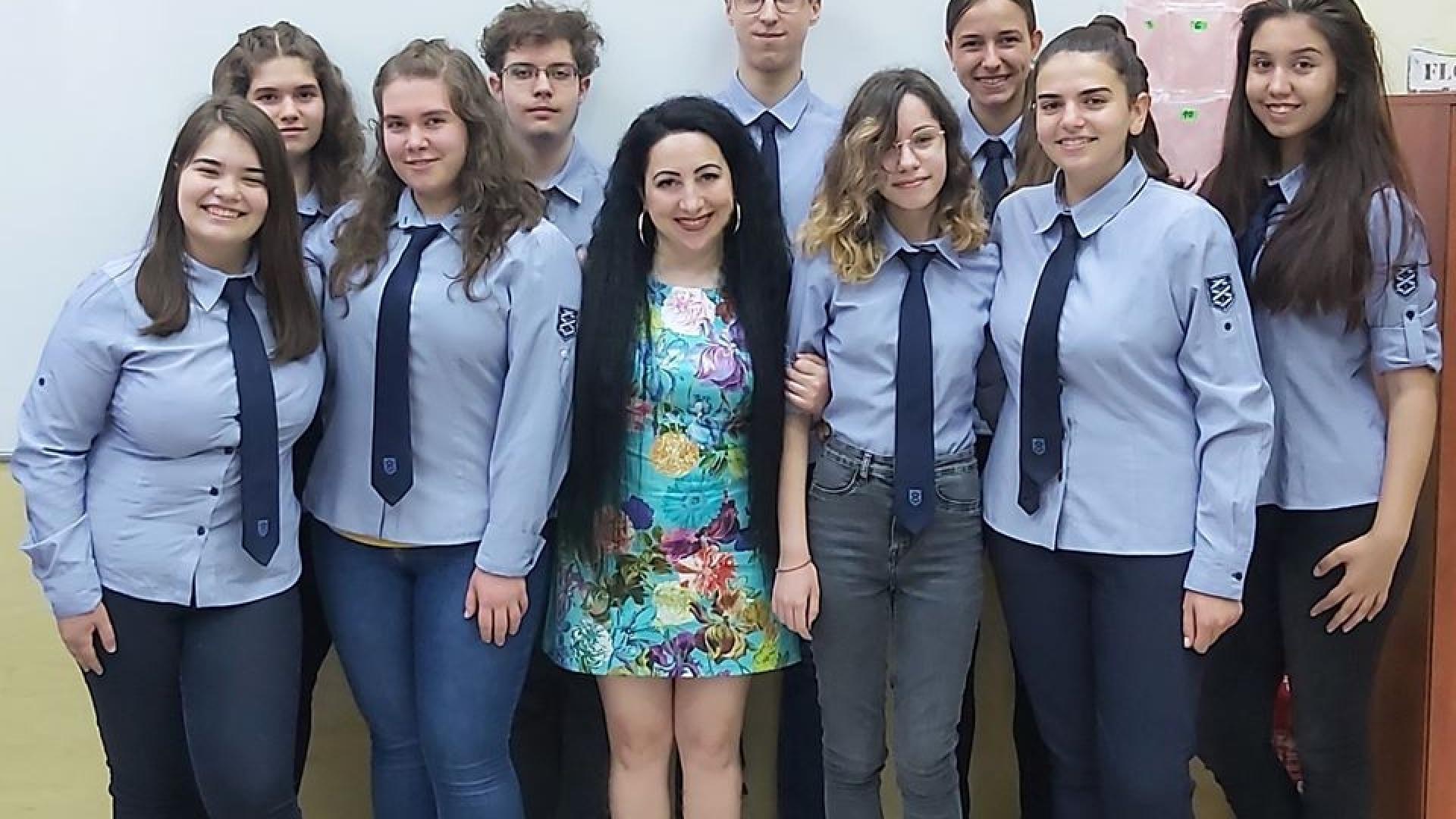 """Кристален приз за ученици от МГ """"Баба Тонка"""""""